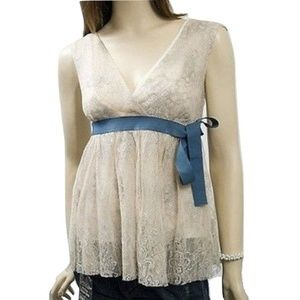NWT Dondup Made in Italy Lace Tank Top $297 retail